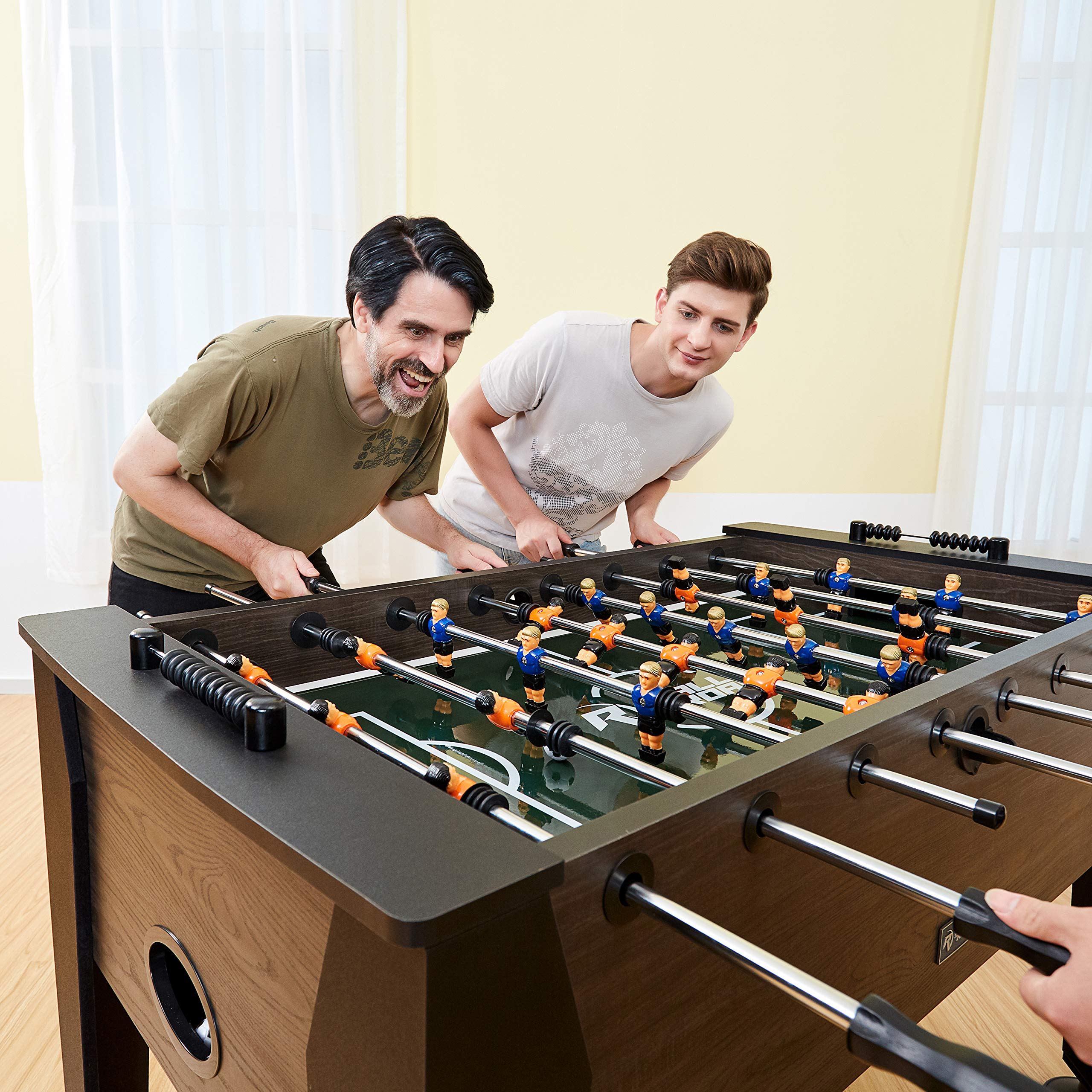 """Rally and Roar Foosball Table Game – 56"""" Standard Size Fun, Multi Person Table Soccer Adults, Kids - Recreational Foosball Games Game Rooms, Arcades, Bars, Parties, Family Night by Rally and Roar (Image #9)"""