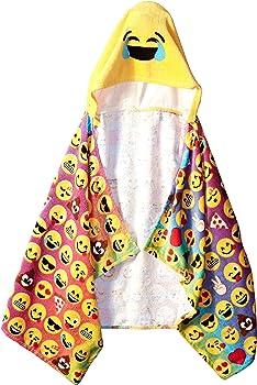 Emoji Pals Rainbow Hooded Kid's Towel