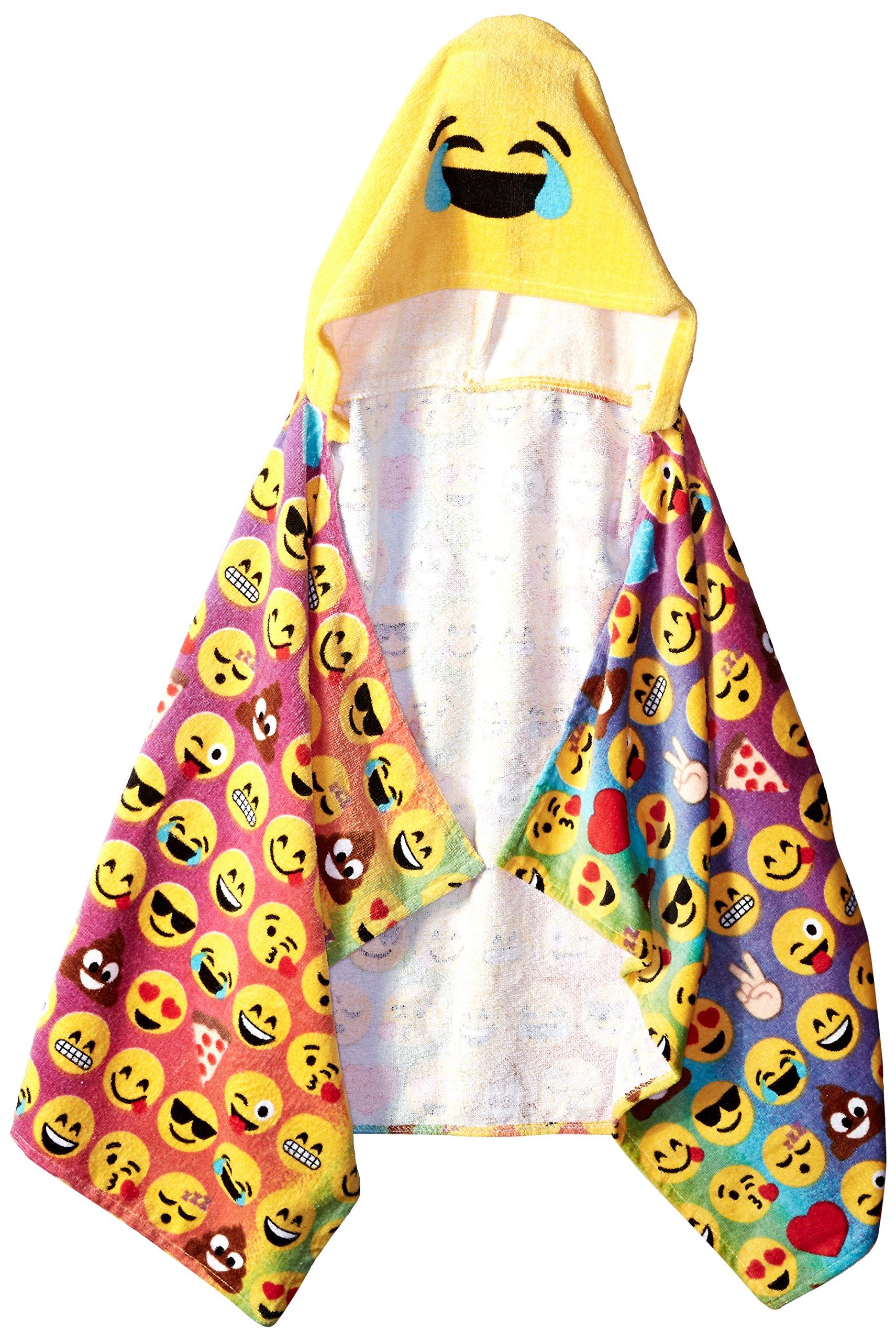 Emoji Pals  Rainbow Hooded Towel, Multicolor by Emoji Pals (Image #1)