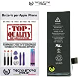 TSI® Batteria di Ricambio per Apple iPhone 5S Originale, Capacità 1560 mAh apn 616-0728 / 616-0730, + Tool Kit Smontaggio, Biadesivo e Istruzioni