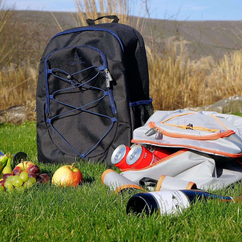 CampFeuer Zaino di Raffreddamento 30L Nero Borsa di Raffreddamento Grande Impermeabile Ultraleggero Signore e Signori o per Il Barbecue Camping Picnic Lavoro Escursionistico Camping