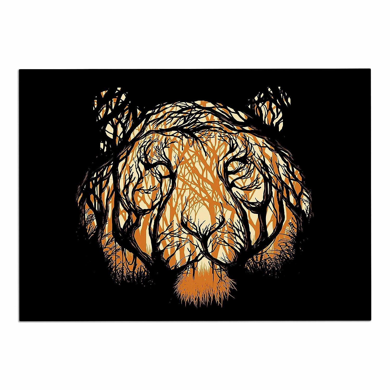 KESS InHouse DC2016ADM02 Digital Carbine Hidden Hunter orange Illustration Dog Place Mat, 24  x 15