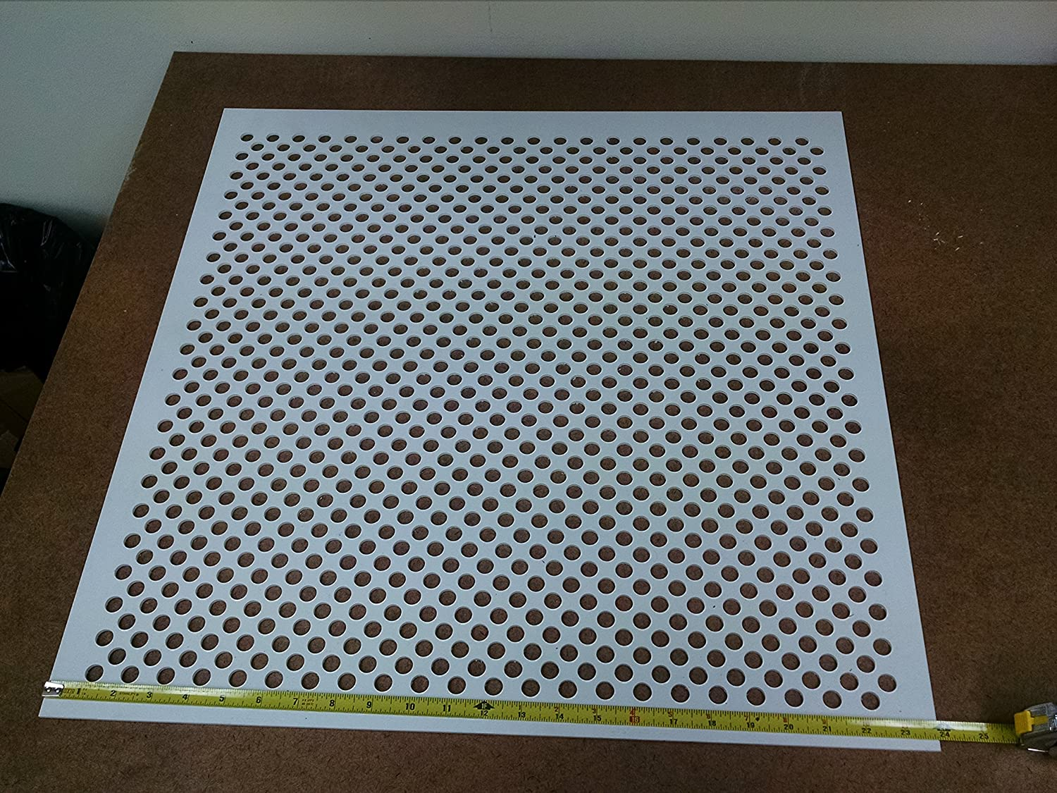 Amazon white plastic perforated tilereturn with 12 amazon white plastic perforated tilereturn with 12 perforations 4994w 125 50 home kitchen doublecrazyfo Images