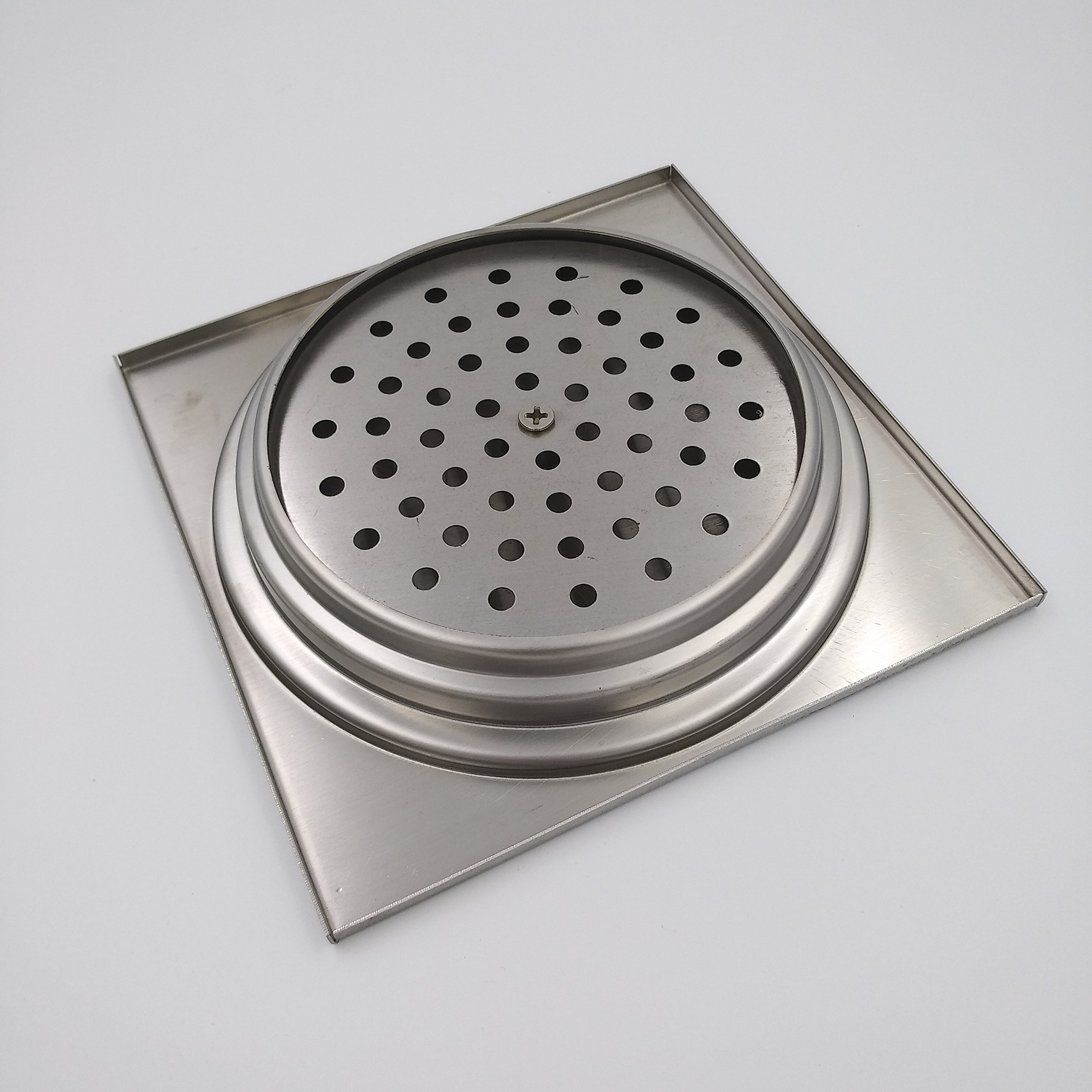 ULING D016-2 SUS304 Stainless Steel Bathroom Shower Floor Drain Square Bath Room Toilet Washing Machine Drain Remove Cover Waste Drain Home Sets by ULING