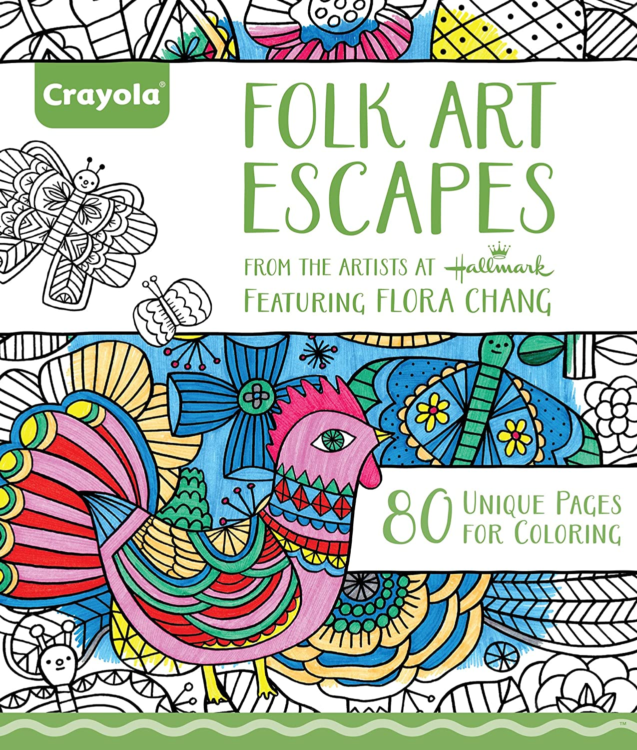 Amazon Crayola Folk Art Escapes Coloring Book Toys Games