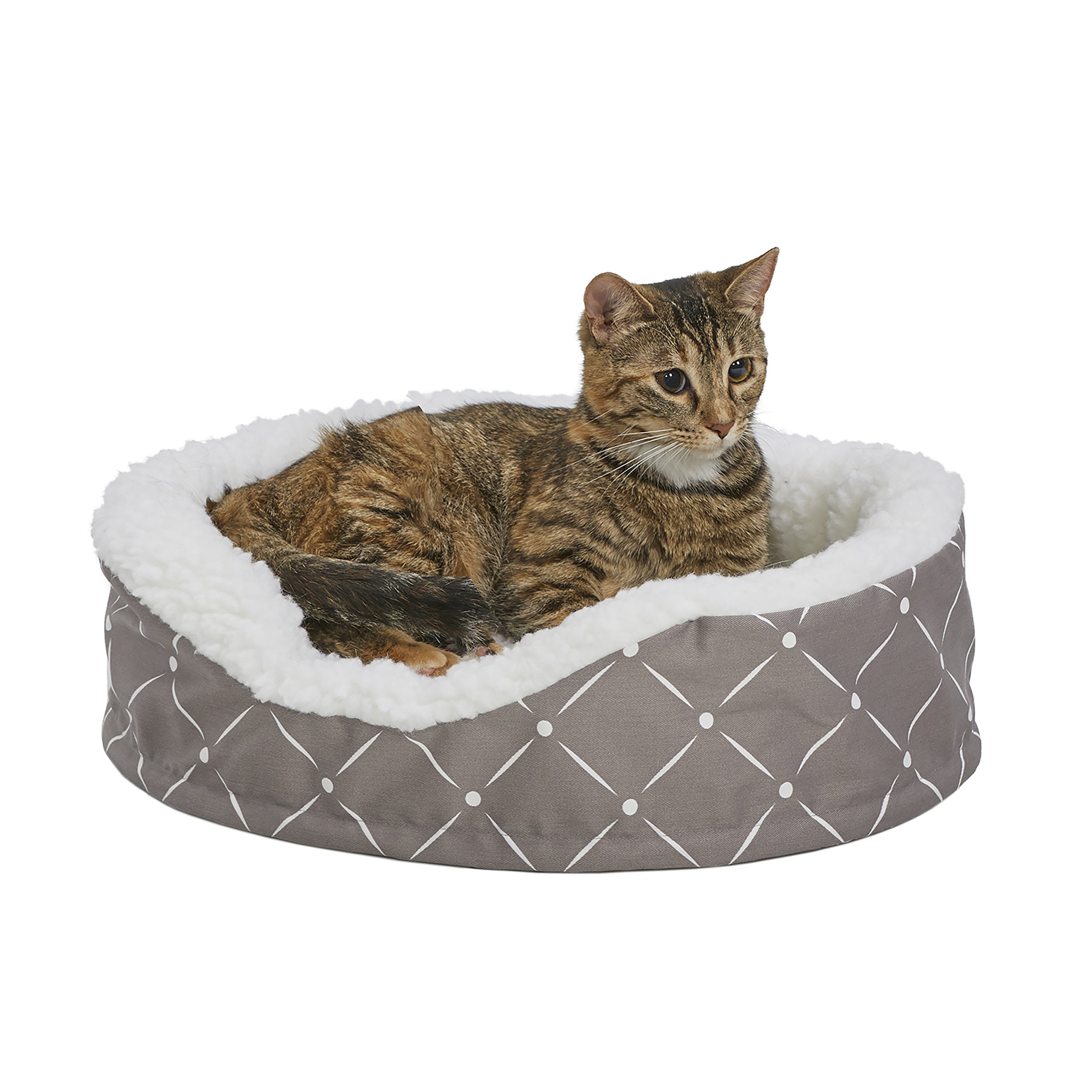 MidWest Homes for Pets CU20MRD Couture Orthopedic Cradle Pet Bed for Dogs & Cats, X-Small