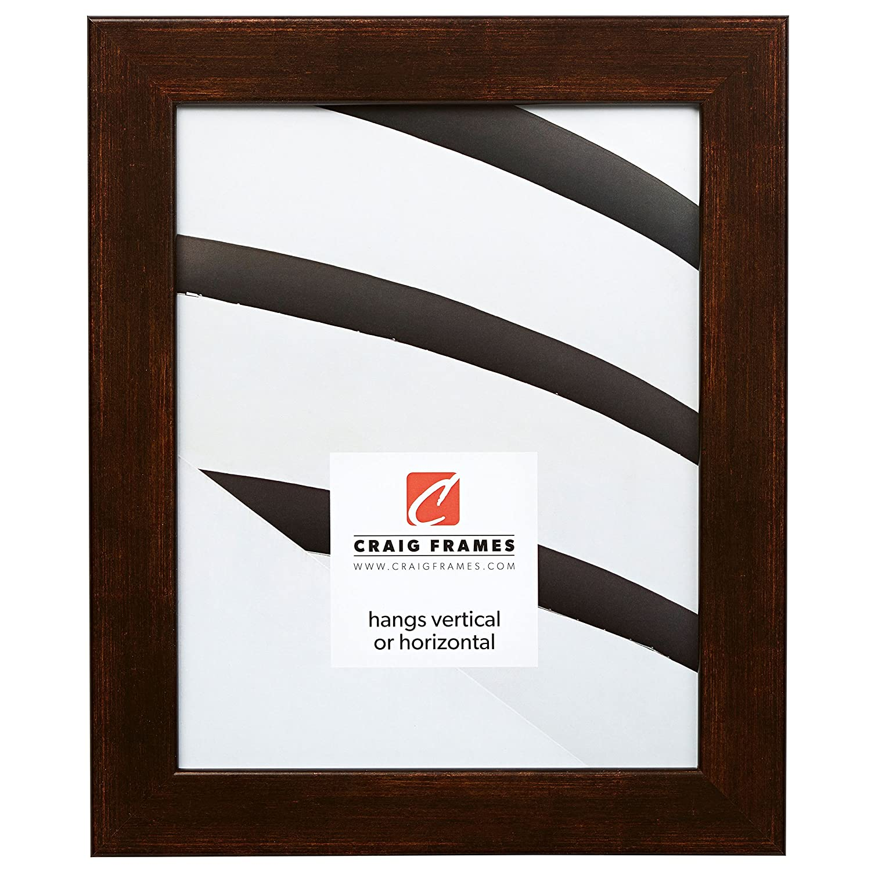 Craig Frames Bauhaus, Modern Aged Copper Picture Frame, 10 by 12-Inch