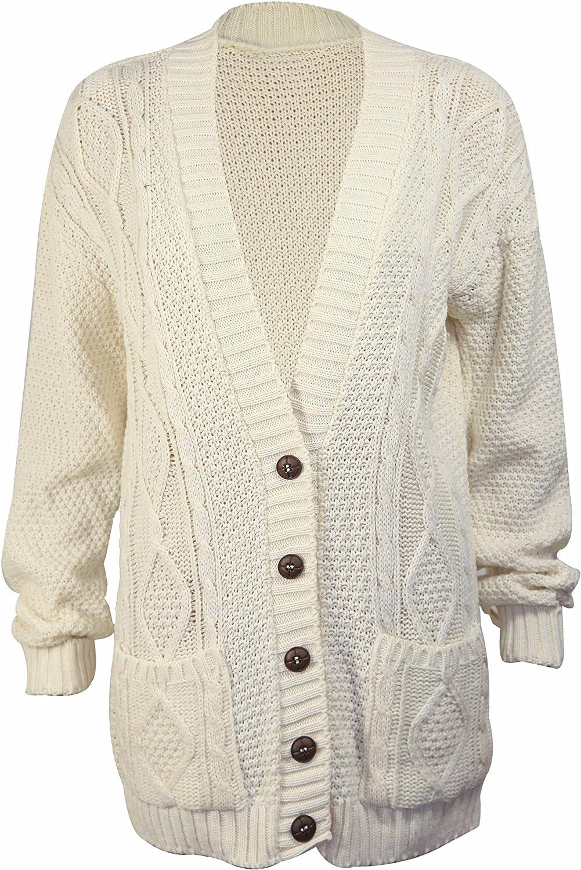 PurpleHanger Women's Knit Sweater Cardigan Top Plus Size Cream 20 22