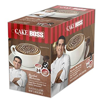 "Cake Boss NEW! ""Hazelnut Mochaccino"" (24) Count Single Serve Flavored"