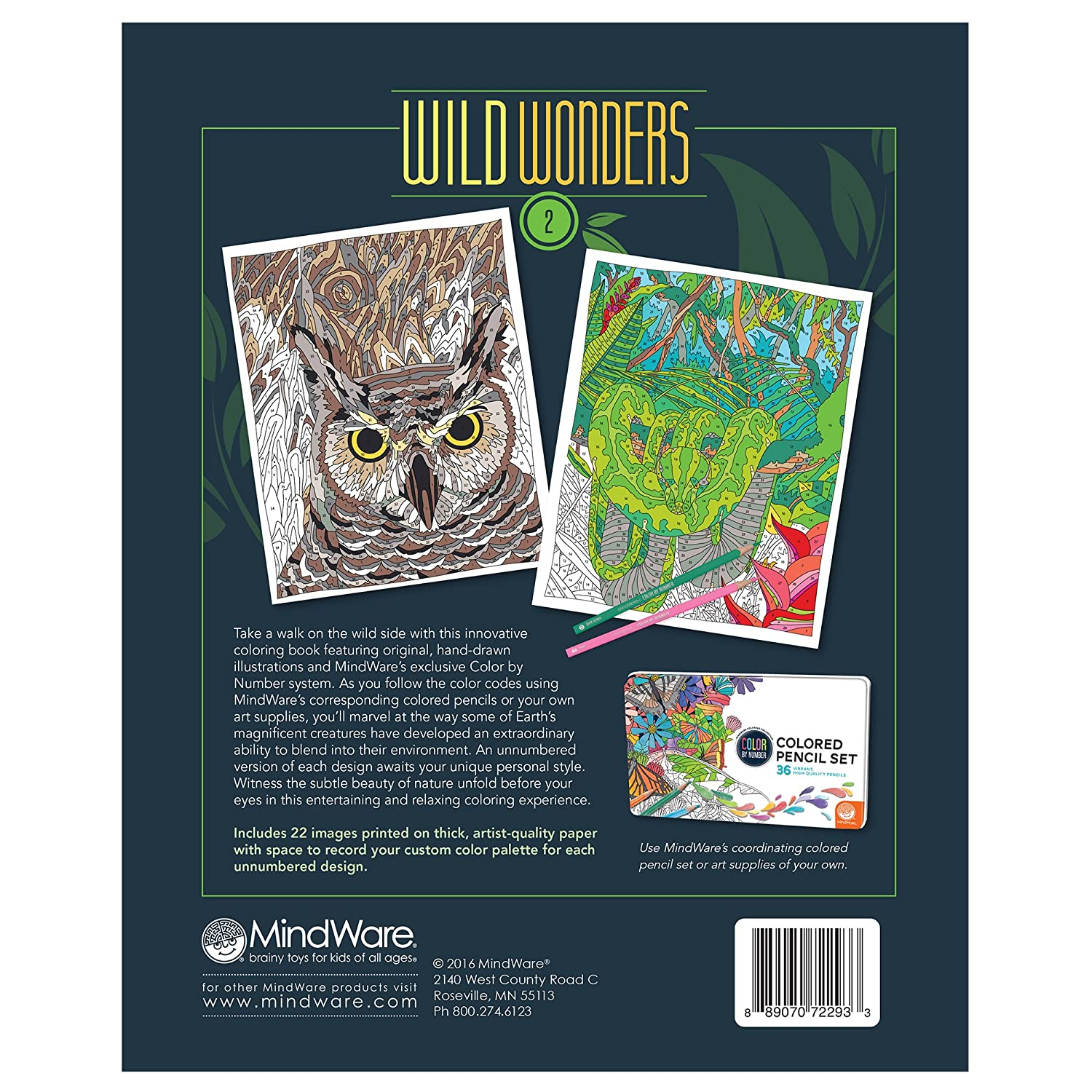 Amazon.com: Wild Wonders Color by Number: Book 2: Toys & Games