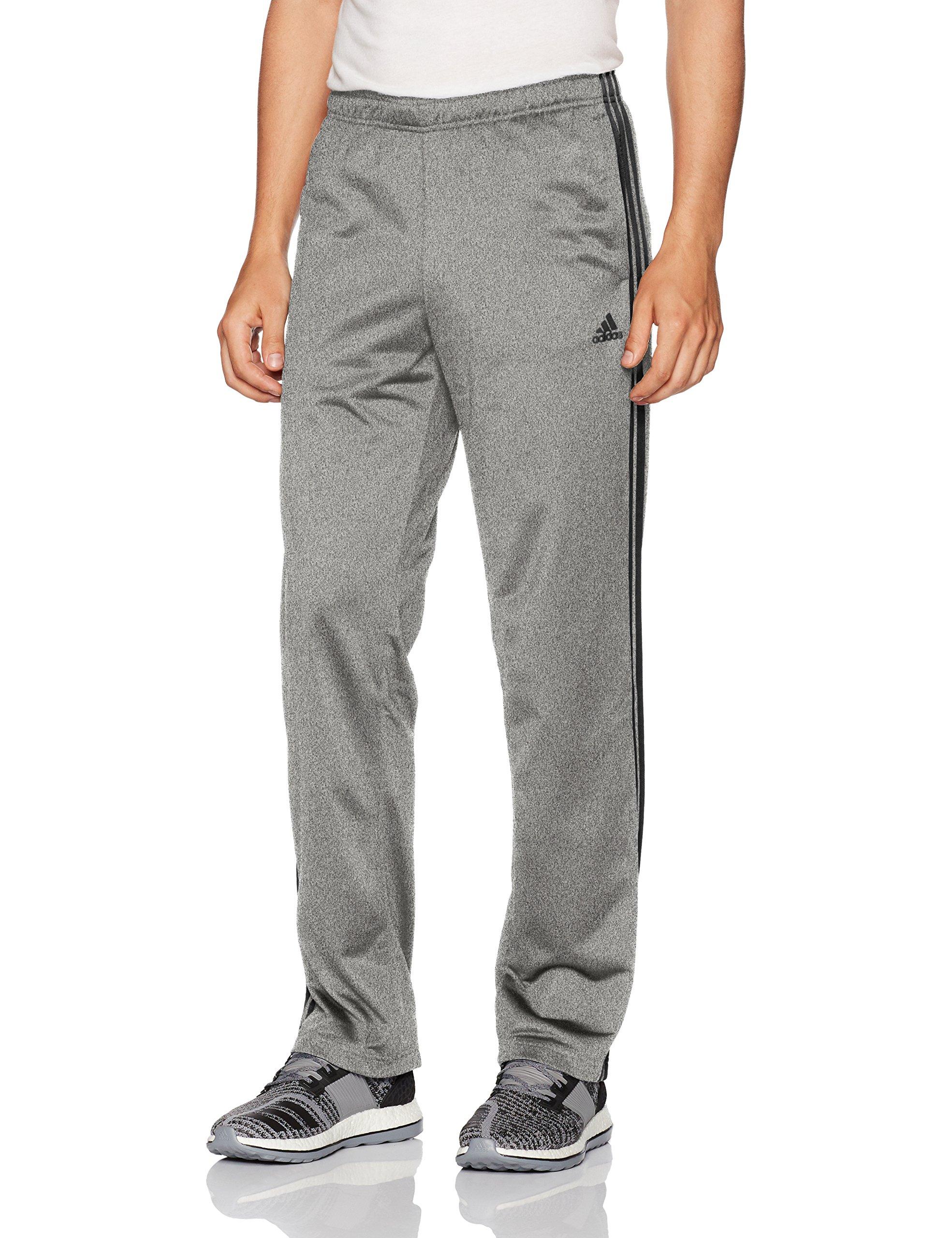 adidas Men's Athletics Essential Tricot 3-Stripe Pants, Dark Grey/Black, X-Small