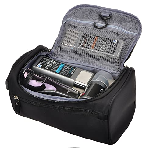 Amazon.com  Mens Travel Shaving Toiletry Bag Small Hanging Wash Organizer  Dopp Kit Travel Accessories, Black  Vercord 8168ca6495