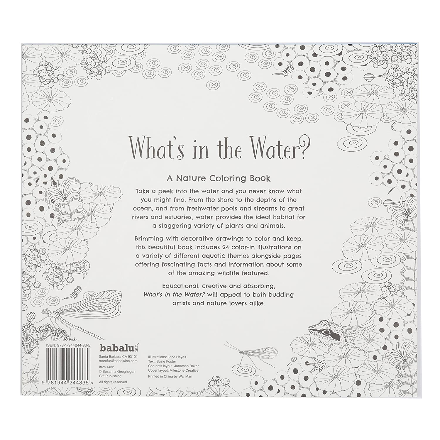 amazoncom coloring book whats in the water kids coloring book with 24 beautiful illustrations office products
