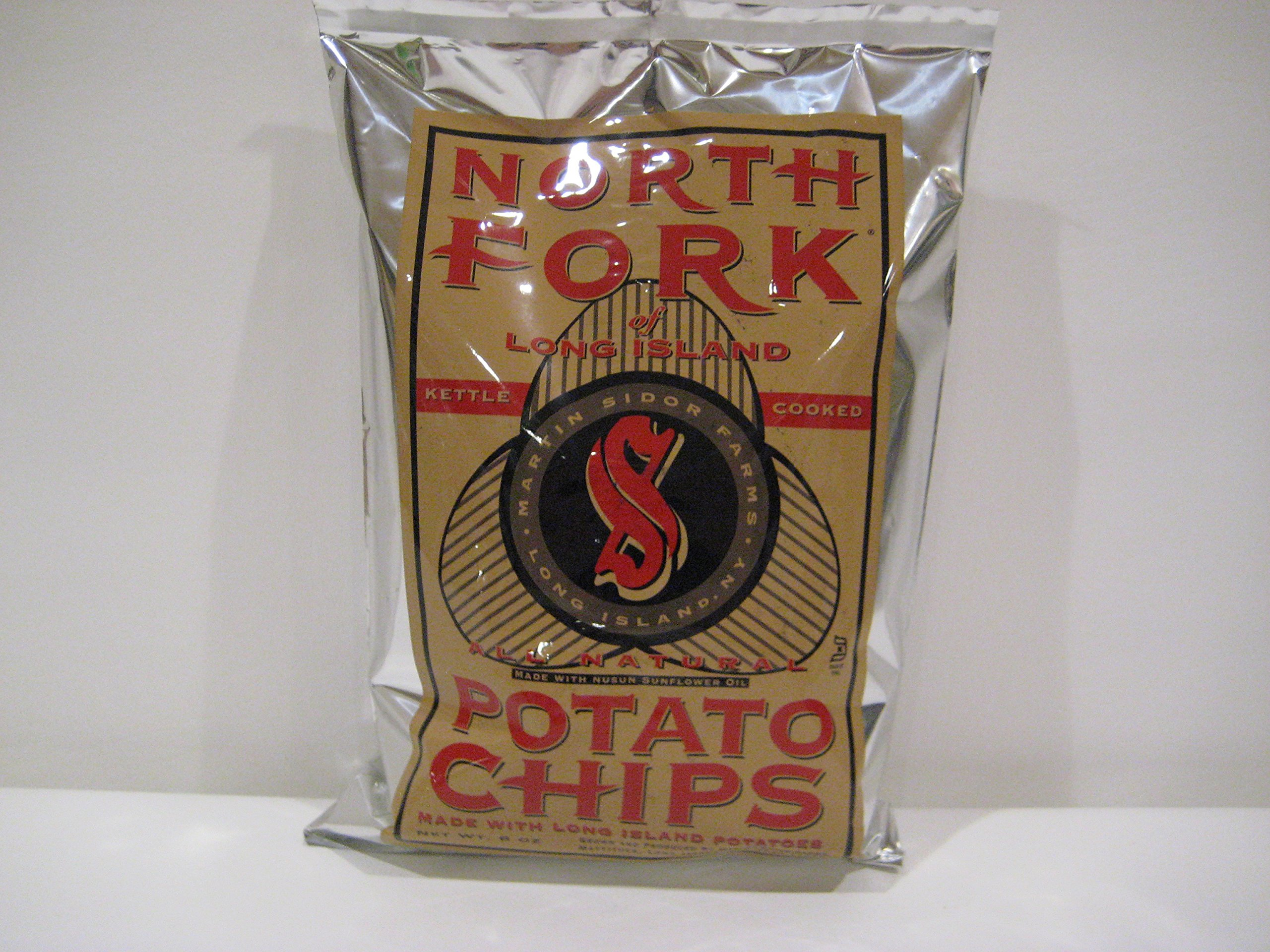 North Fork Of Long Island Kettle Cooked Original Potato Chips, 3-Pack