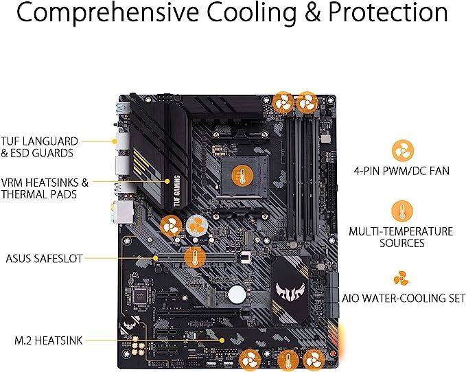 Asus Tuf Gaming B550 Plus Motherboard Socket Am4 Computers Accessories