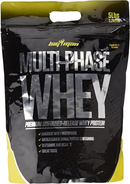 Big Man Nutrition Multi-Phase Whey Complejo de Proteínas ...