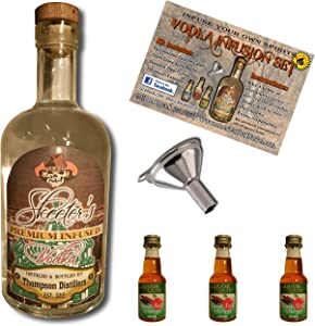 Custom Vodka Infusion Set (Spiced Apple Schnapps) With Personalized Private Labeled Bottle