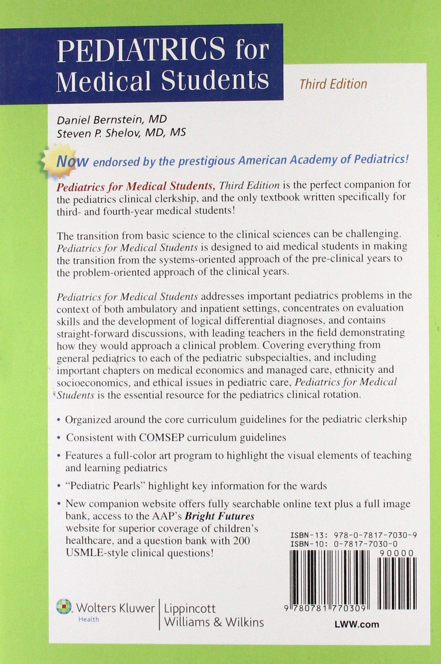 Pediatrics for Medical Students