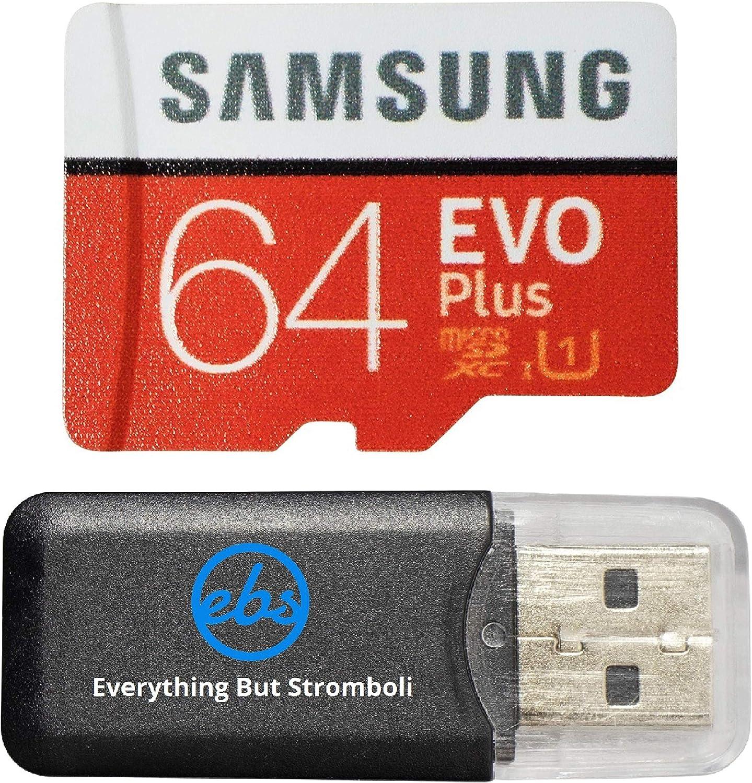 Samsung Evo Plus 64GB MicroSD Memory Card & Adapter Works with GoPro Hero 8 Black (Hero8), Max 360 UHS-I, U1, Speed Class 10, SDXC (MB-MC64) Bundle with 1 Everything But Stromboli Micro Card Reader