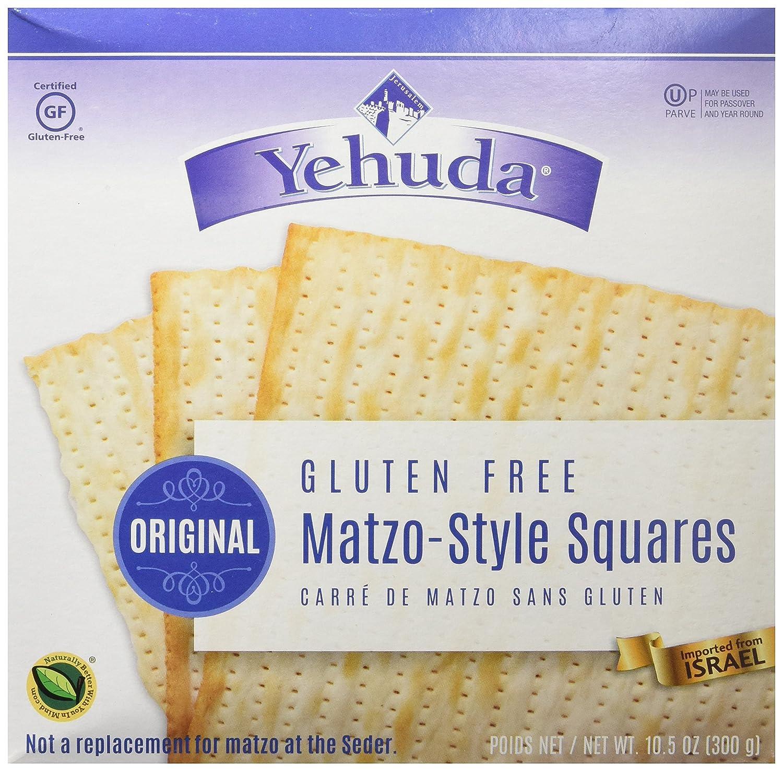Yehuda Gluten Free Matzo-Style Squares 10.5 oz (5 Boxes)