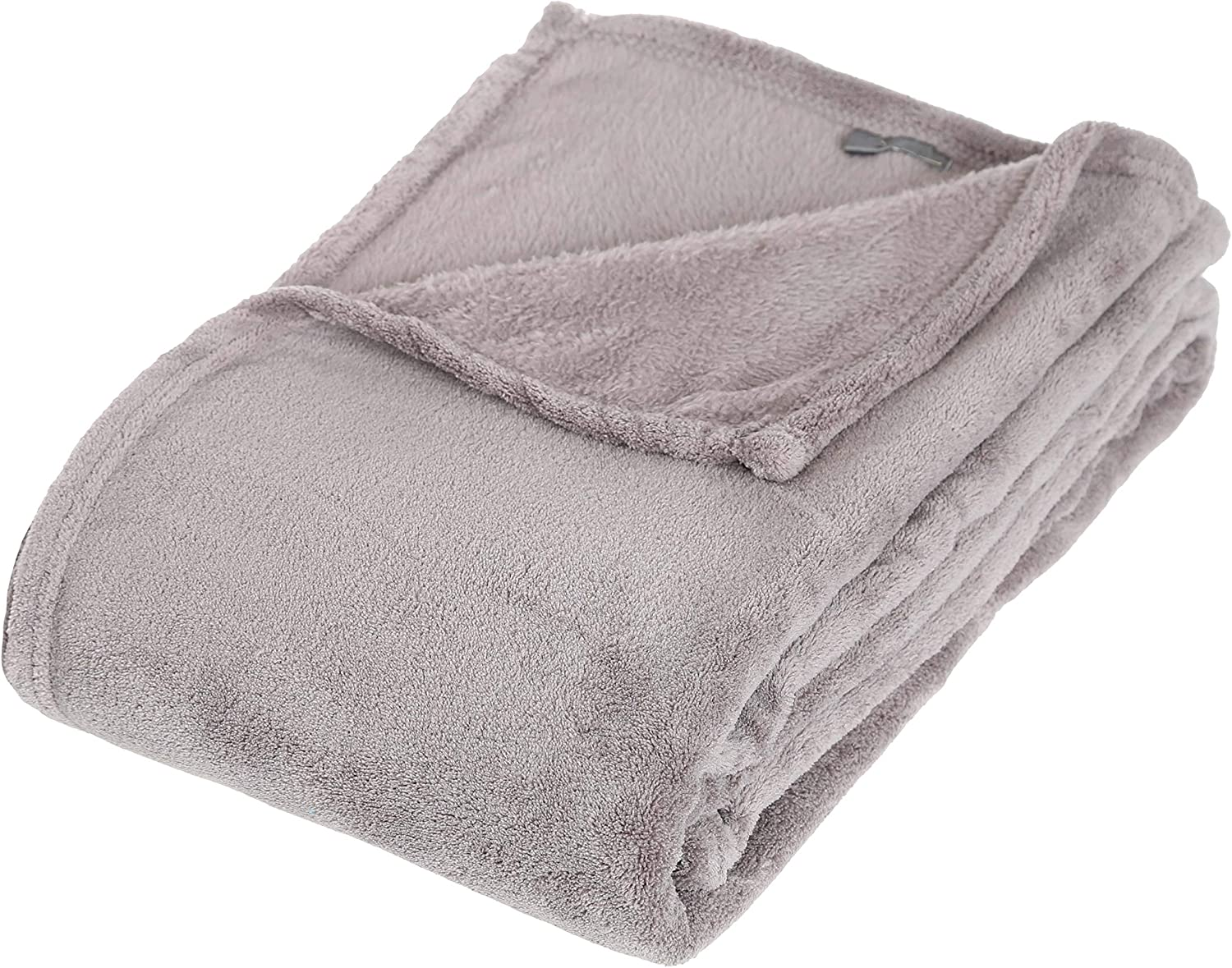 Taupe, Plaid Microfibre 125 x 150 cm Atmosphera Univers d/écor Plaid Microfibre 125 x 150 cm Atmosphera