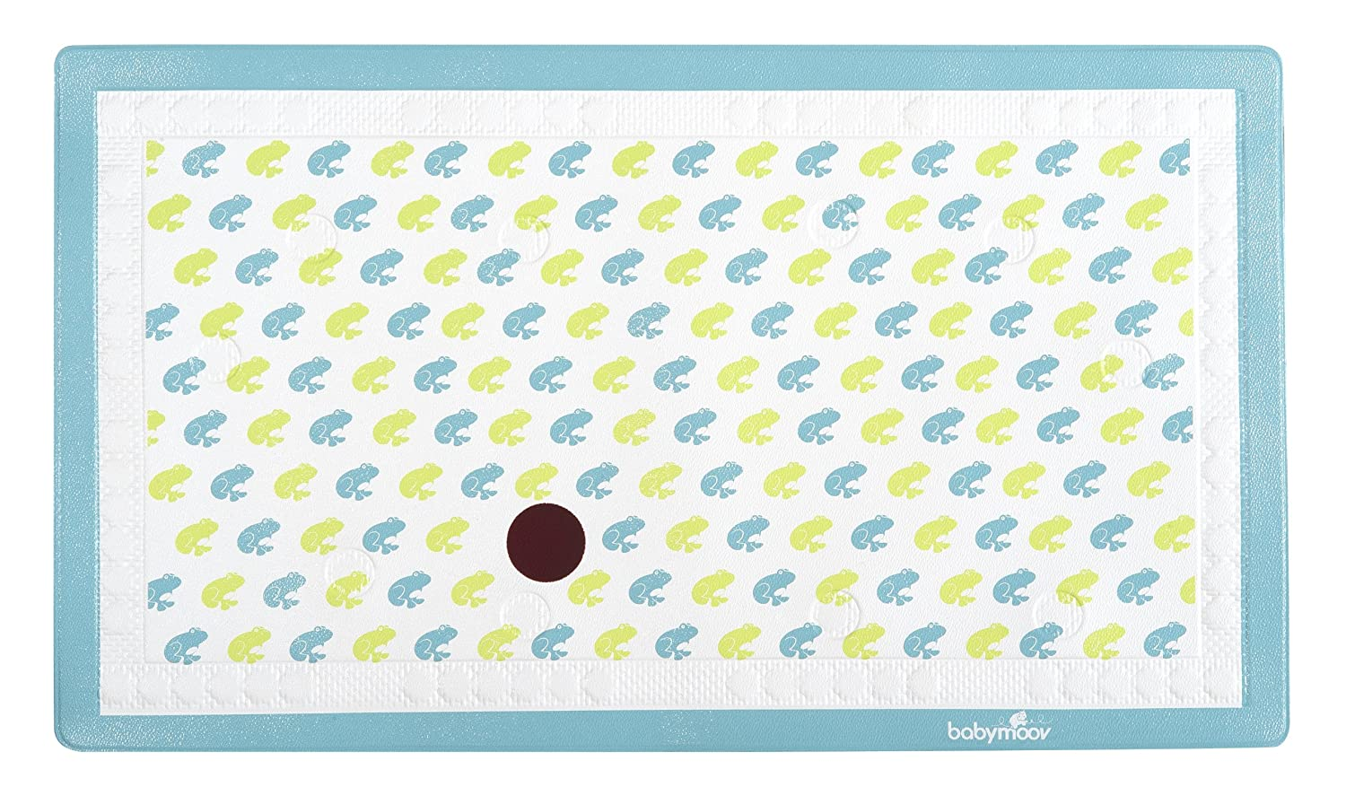 Babymoov Bathmat with Thermometer Frog, Green, Turquoise, 1 Pack A020205