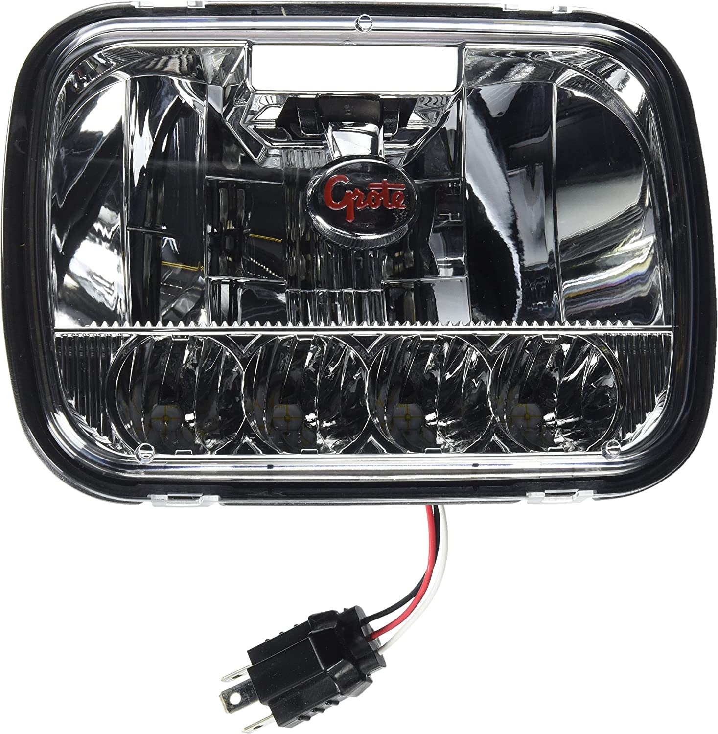 Grote 90951-5 Natural Sunlight Color Temperature, 5-by-7 inches, Polycarbonate Lens LED Sealed Beam Headlight