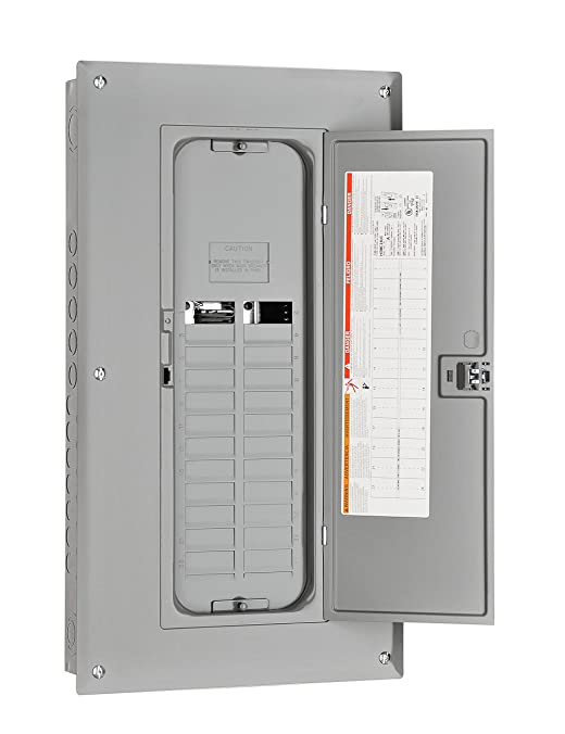Square D by Schneider Electric HOM1632L125PC Homeline 125-Amp 16-Space 32-Circuit Indoor Main Lugs Load Center with Cover, Plug-on Neutral Ready
