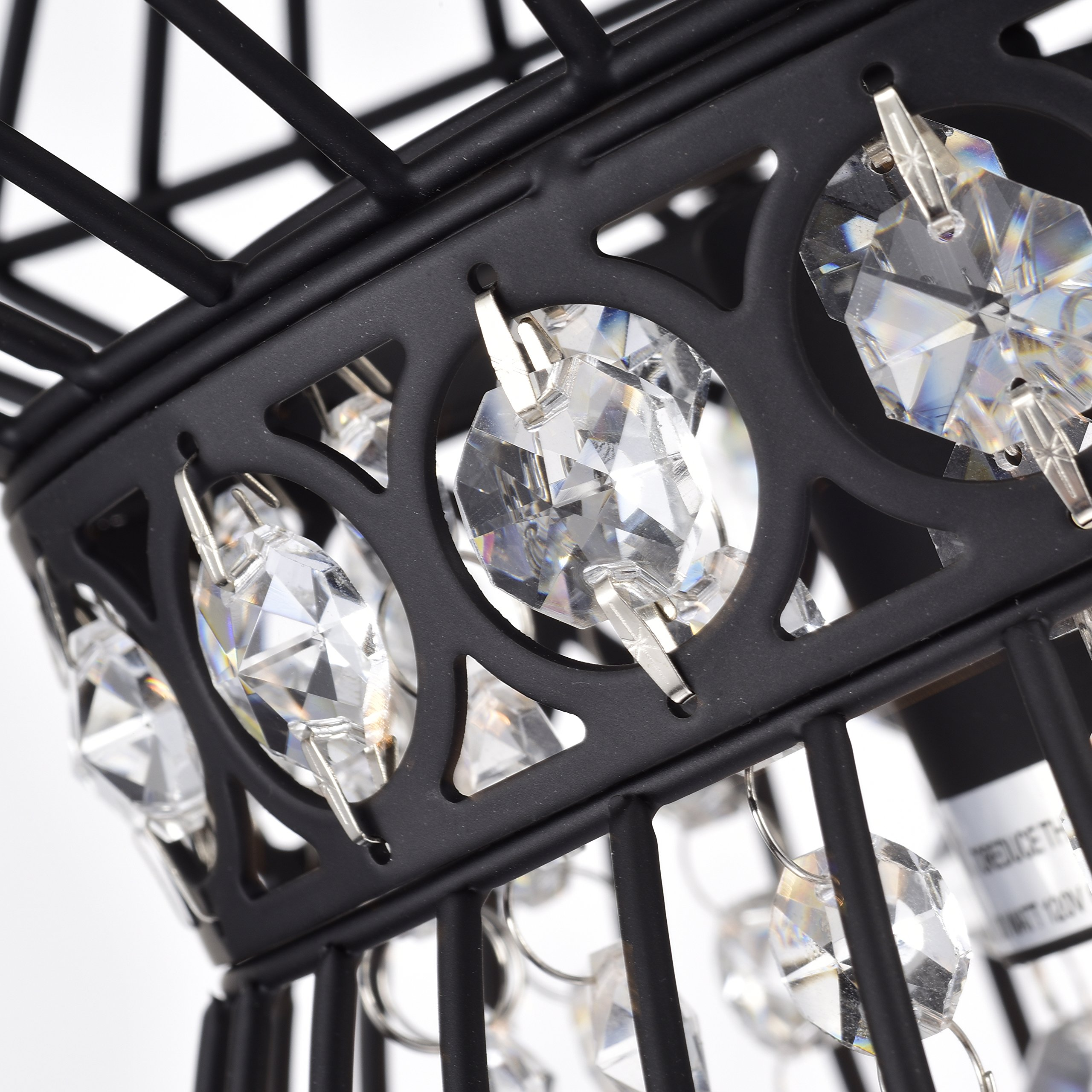 Black Chandeliers Crystal Chandelier Lighting Farmhouse Lighting Fixtures 1 Light 17045 by LaLuLa (Image #7)