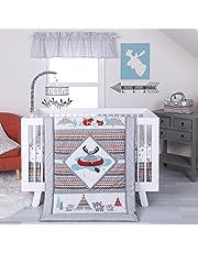 Trend Lab Moose Canoe 4 Piece Crib Bedding Set, Multicolor