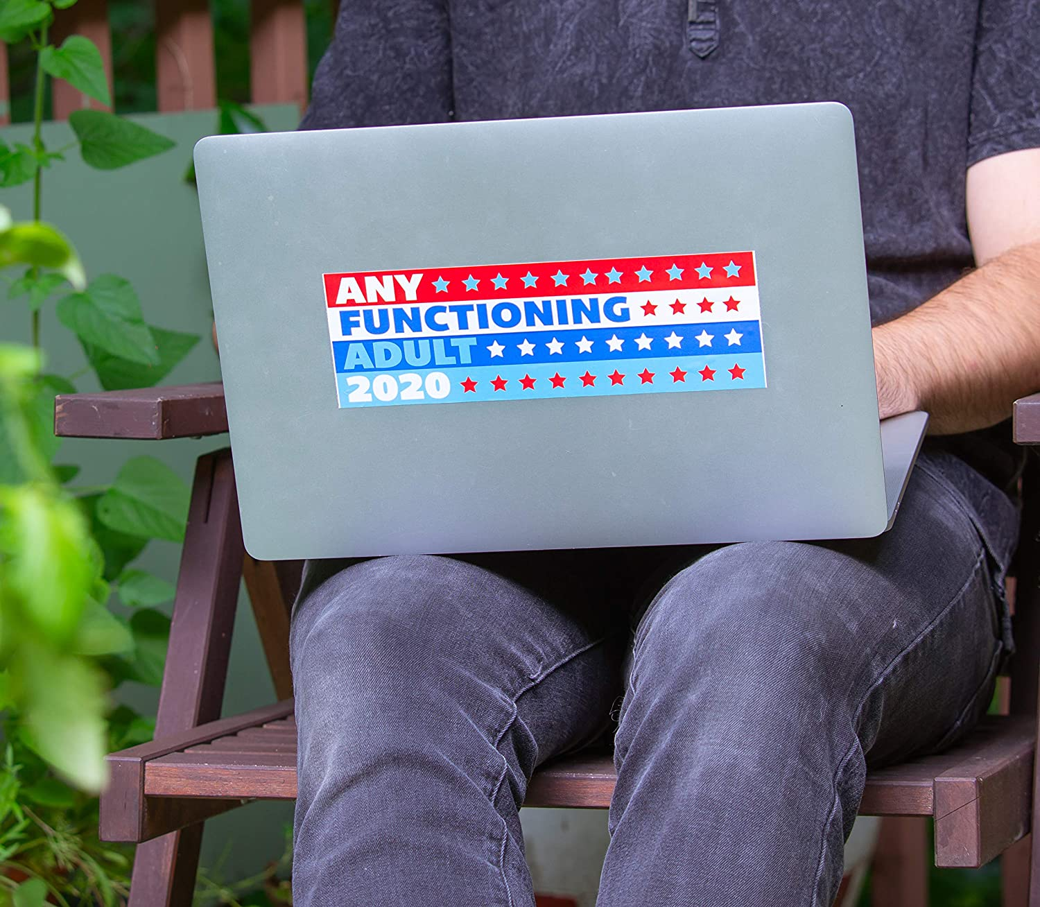 Gift to Anti-Trump friends who want anybody to win.This election 4-Pack of Any Functioning Adult 2020 Funny Car Bumper Stickers use as a window sign to encourage votes for literally anyone else.