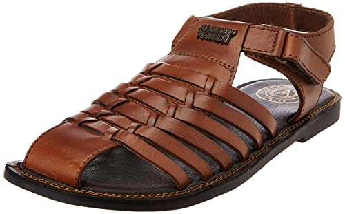 4358f2c653a43 Alberto Torresi Men s Leather Sandals and Floaters  Buy Online at ...