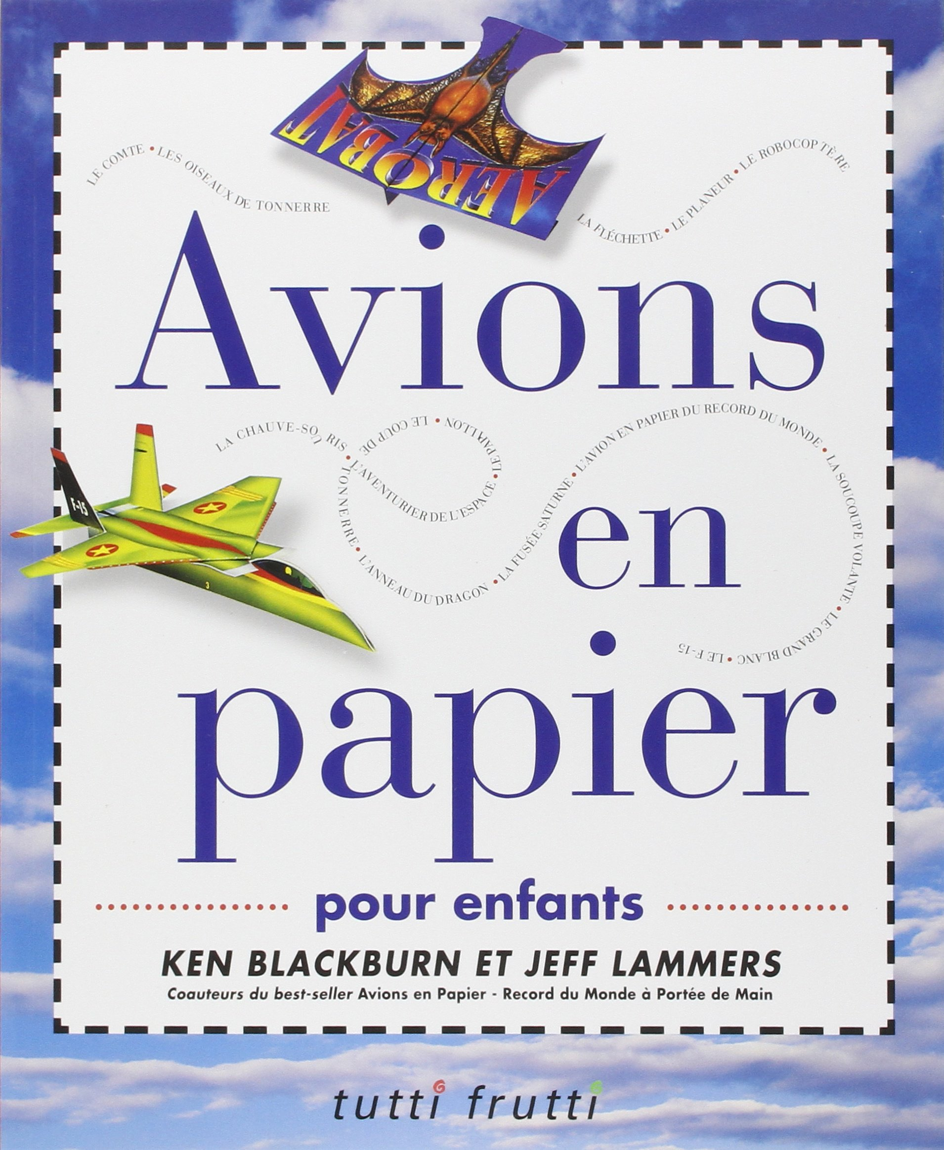 Coloriage Avion De Voltige.Amazon Fr Avions En Papier Pour Enfants Ken Blackbrun