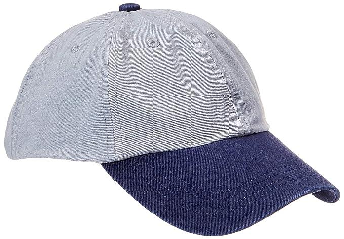 Rebel Canyon Men s Contrast Color Cotton Dad Hat Adjustable Plain Baseball  Cap Grey Blue 84fcee1ed65c