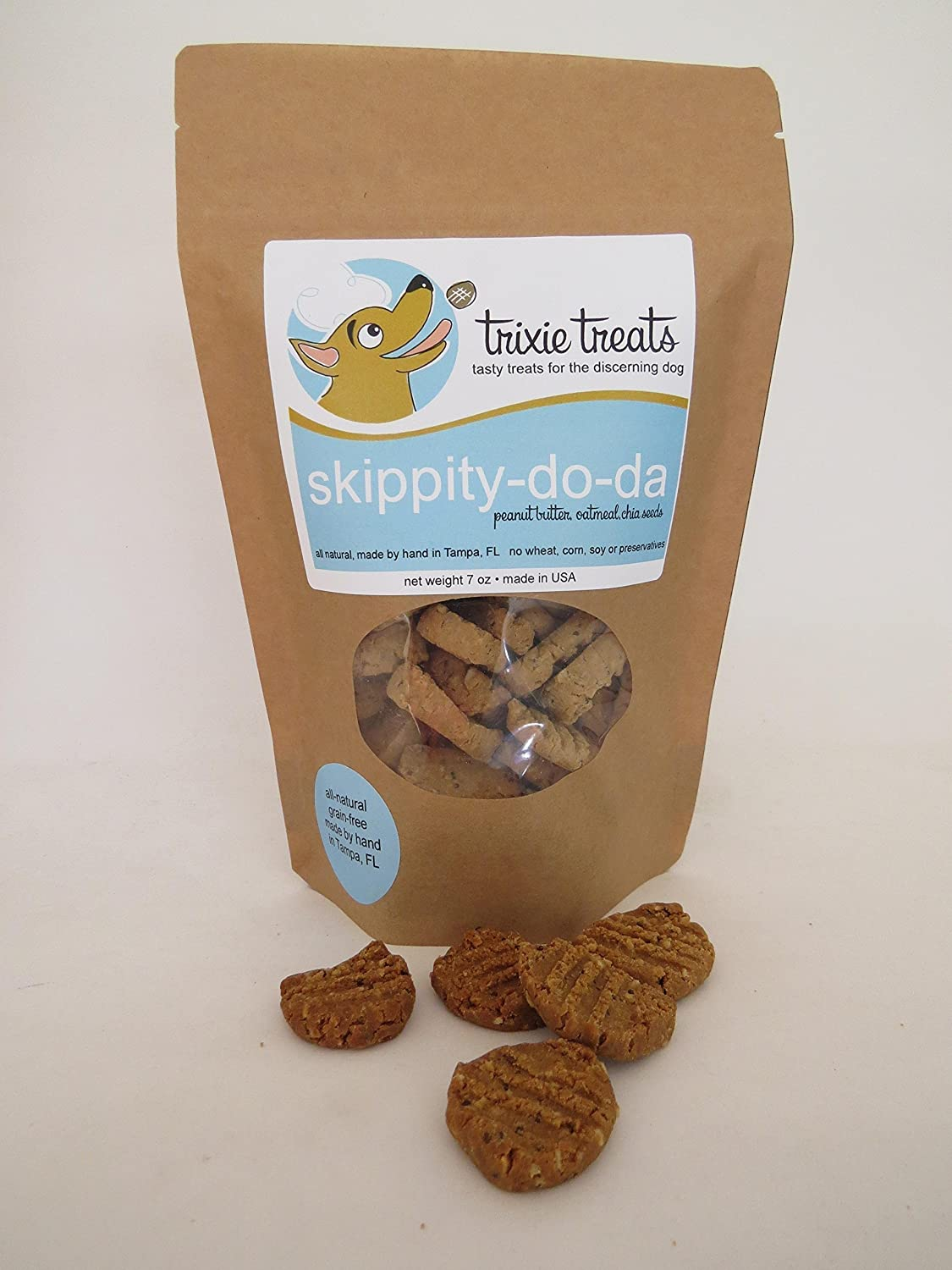 Trixie Treats grain-free peanut butter oatmeal dog treats - Skippity-do-da