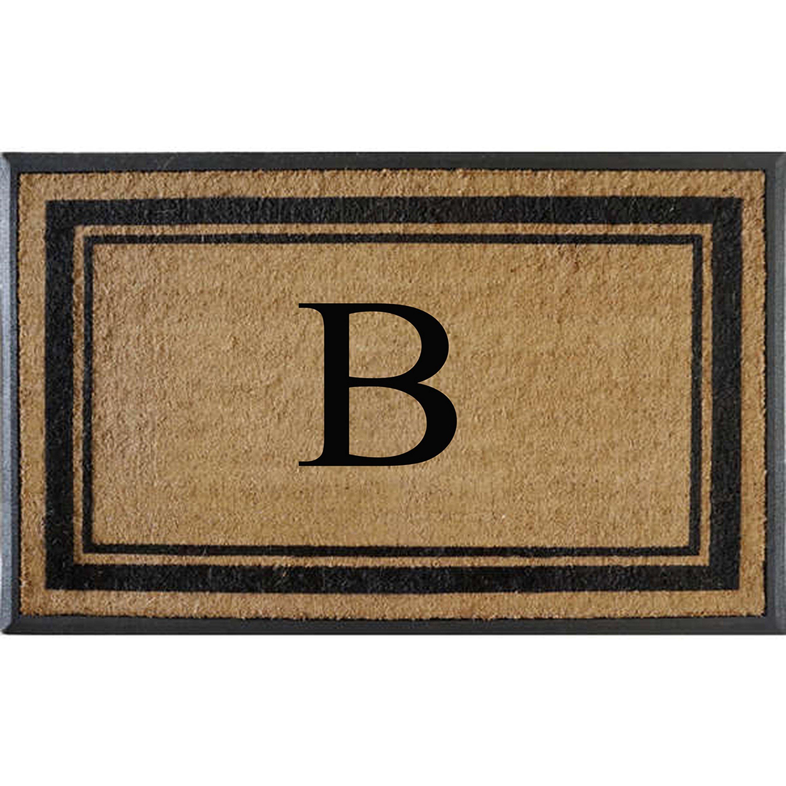 First Impressions Markham Border Double Door, Doormat, Monogrammed B, X-Large