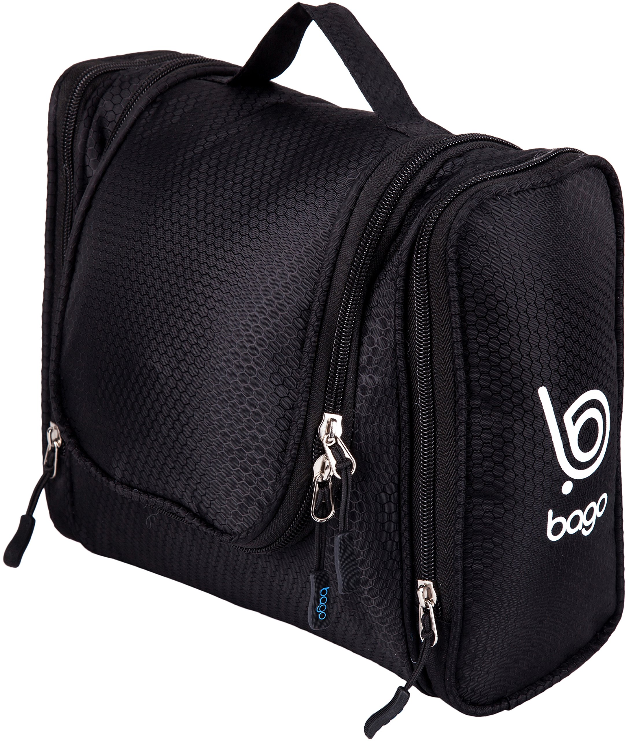 Bago Hanging Toiletry Bag For Men & Women - Toiletries Travel Organizer (Black)