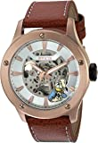 Invicta Men's Quartz Stainless Steel and Leather Casual Watch, Color:Silver-Toned (Model: 24660)