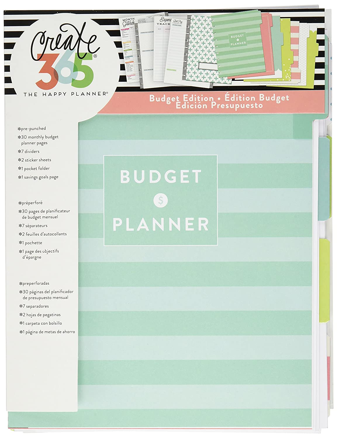 Amazon Me My Big Ideas Budget Extension Bill Organizer Classic Happy Planner Accessory By