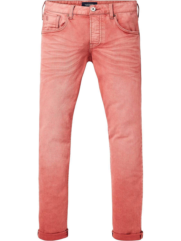 TALLA 33W / 32L. Scotch & Soda Ralston - Garment Dye Colours - Vaqueros Straight Hombre