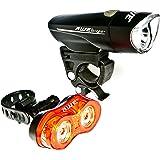 AWE® AWEBright™ 1 x Super Bright Front LED & 0.5W x 2 Rear LED's Bicycle Light Set 140 Lumens
