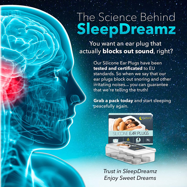 Sleep ear plugs 6 pairs earplugs sleep protection ball sleepdreamz ®