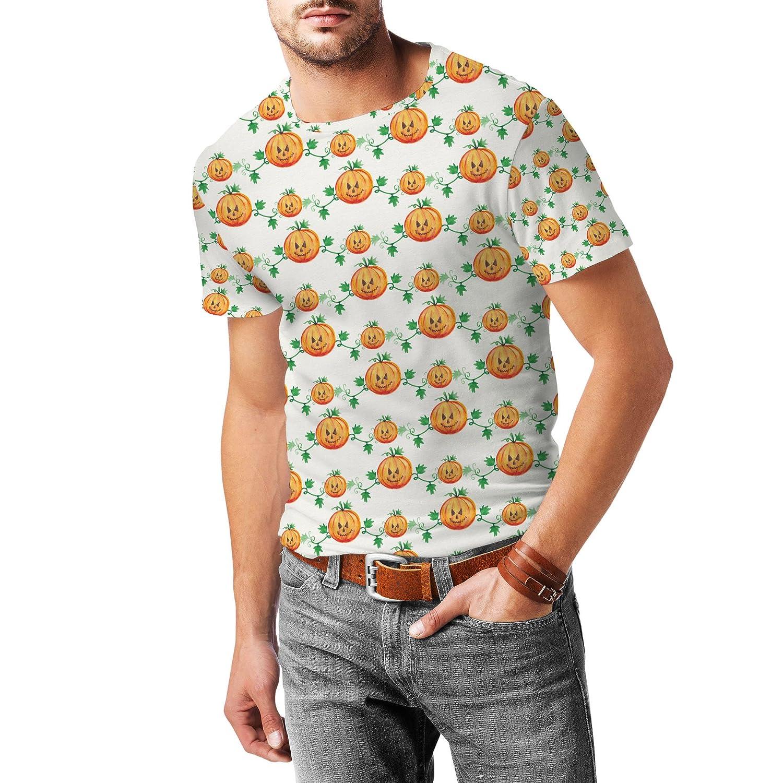 Watercolor Pumpkins Mens Cotton Blend T-Shirt