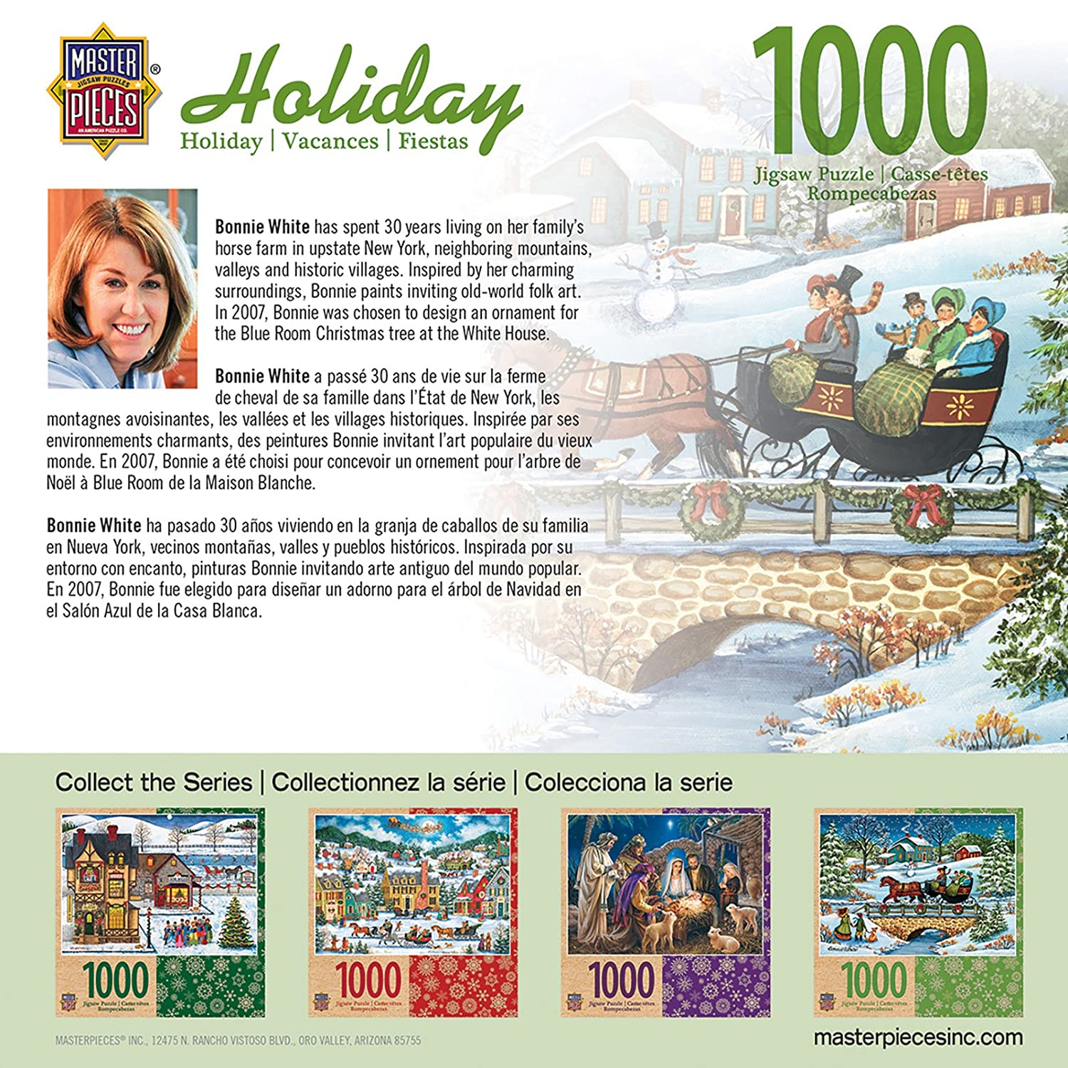Amazon.com: MasterPieces Holiday Over The River 1000 Piece Puzzle: Toys & Games