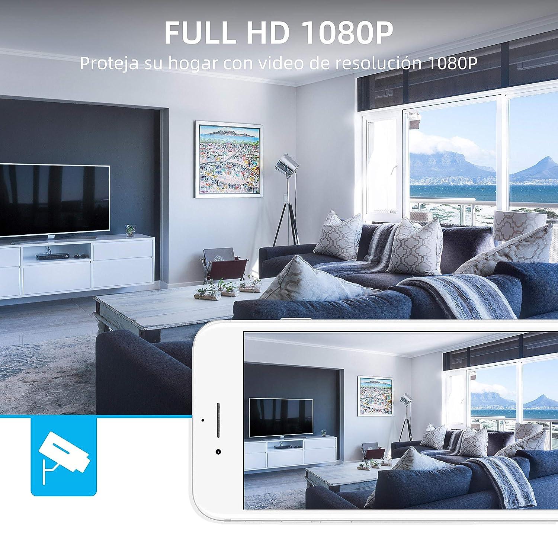 Audio Bidireccional SZSINOCAM C/ámara de Vigilancia WiFi Exterior 1080P C/ámara de Seguridad con Visi/ón Nocturna de 30 m Detecci/ón de Movimiento