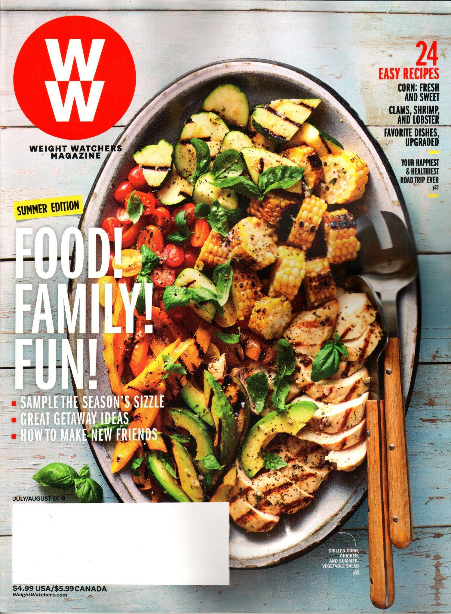 Read Online Weight Watchers Magazine July/August 2018  Food! Family! Fun! pdf epub