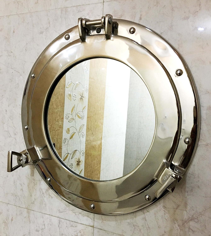 15 Porthole Round Coastal Wall Hanging Mirror Porthole Home Chic Decor Nagina International
