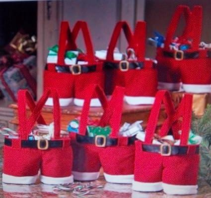 2 Mini de Papá Noel botas de calcetines de pantalón corto de Idea de originelle textil