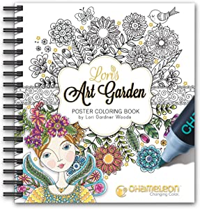 Chameleon Art Products, Coloring Book, Hardback Personalized Cover - Lori's Art Garden