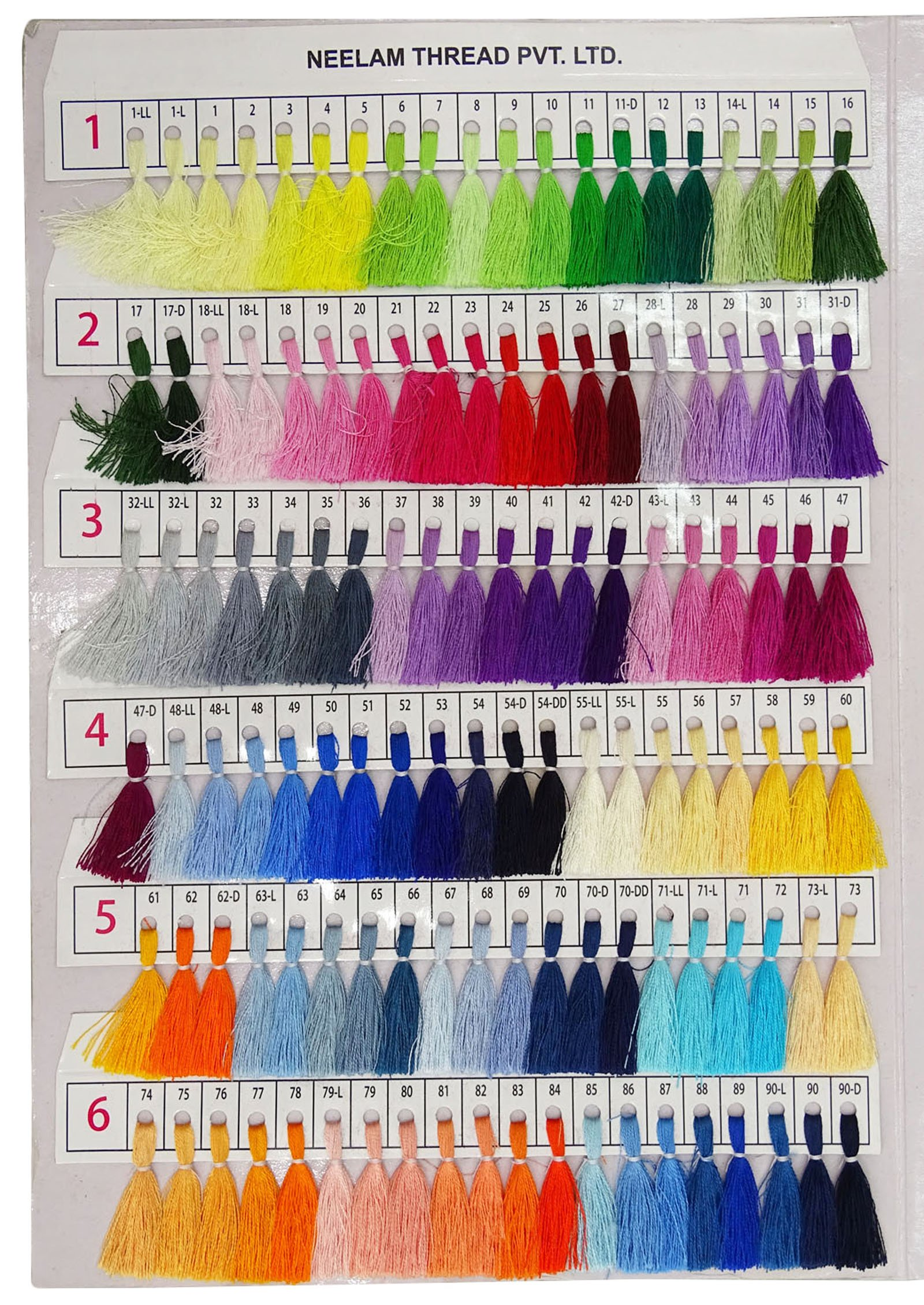 Telephone Threads Azo Free Viscose Rayon Embroidery Thread Shade Card - 480 Color Chart by Telephone Threads (Image #3)